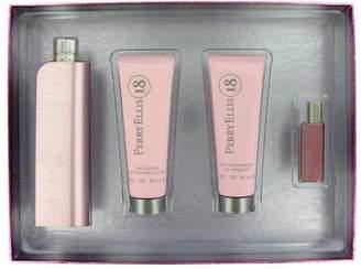 Perry Ellis 18 by Gift Set - 3.4 oz Eau De Parfum Spray + 3 oz Shower Gel + 3 oz Body Lotion + .25 oz Mini