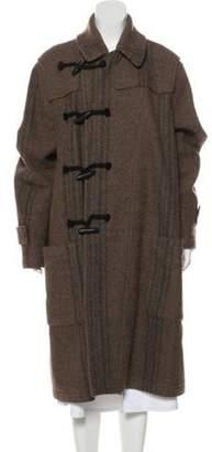 Dries Van Noten Wool Long Coat Tan Wool Long Coat