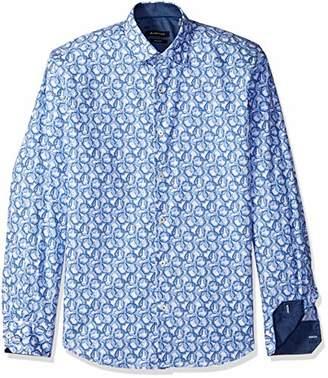 Bugatchi Men's Printed Long Sleeve Shaped Fit Woven Shirt