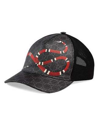 Gucci Men's King Snake GG Supreme Baseball Cap