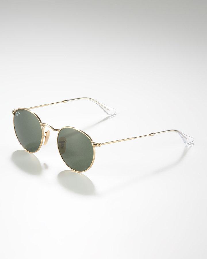 Ray-Ban Round Metal Sunglasses, Gunmetal