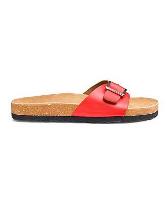 89a5c202c Red Leather Footbed Sandals For Women - ShopStyle UK