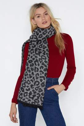 Nasty Gal When Chevron Door Closes Leopard Scarf