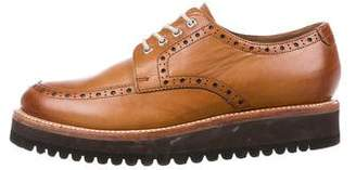 Grenson Leather Wingtip Derby Shoes