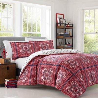 Poppy & Fritz Reece Bandana Full/Queen Duvet Cover Set in Red
