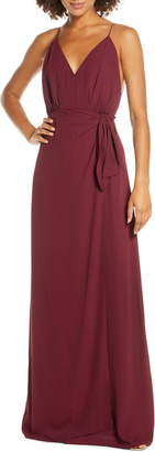 WAYF The Wynona Faux Wrap Gown