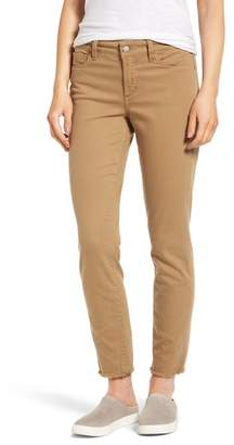 NYDJ Alina Frayed Stretch Twill Ankle Pants