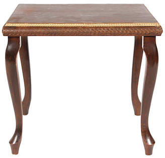 One Kings Lane Vintage 1920s Queen Anne-Style Gilt End Table - Vintique