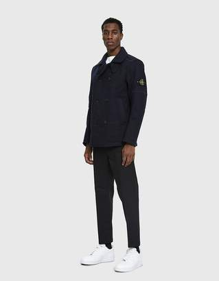 Stone Island Panno-R 4L Stretch Peacoat in Navy Blue