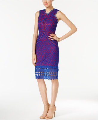JAX Geo-Lace Sheath Dress $138 thestylecure.com