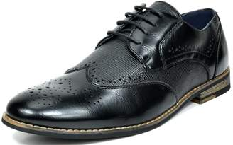 Andrew Marc BRUNO Bruno MARC FLORENCE Men's Oxford Modern Classic Brogue Lace Up Leather Lined Perforated Wing-tip Dress Oxfords Shoes Size 12