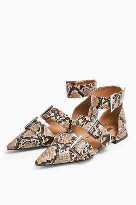 Topshop ALANA Snake Buckle Point Shoes