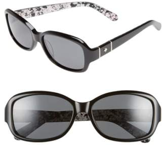 Kate Spade Cheyenne 55mm Polarized Sunglasses