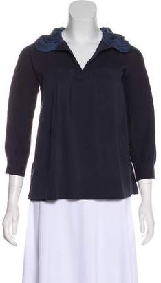 Marc by Marc Jacobs Collared V-Neck Top