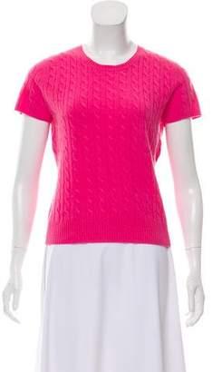 White + Warren Short Sleeve Cashmere Sweater