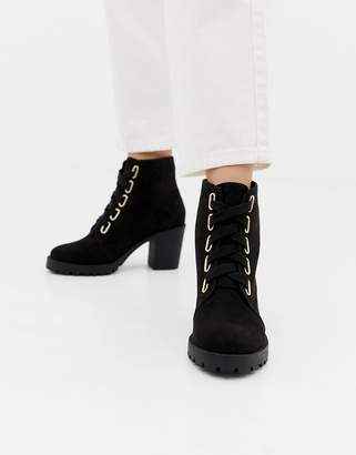 London Rebel Lace Up Chunky Boots
