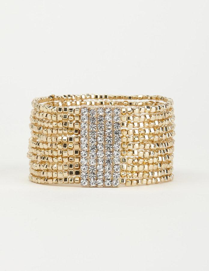 Charlotte Russe Life of Luxury Stretch Bracelet