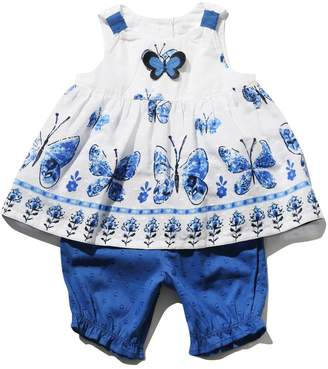 M&Co Butterfly Print Top and Bloomers Set