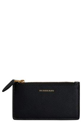 Burberry Somerset Two-Tone Calfskin Leather Card Case