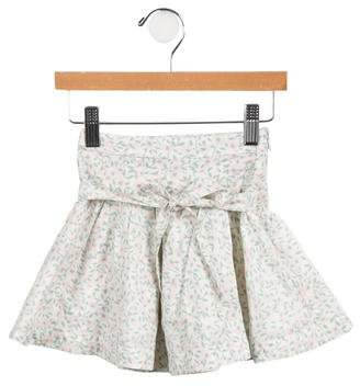 Little Marc Jacobs Girls' Floral A-Line Skirt