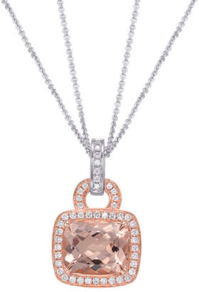 Frederic Sage Roma Morganite & Diamond Pendant Necklace