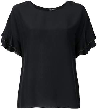Twin-Set ruffled sleeves T-shirt
