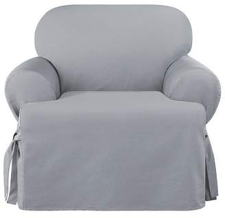 Sure Fit Heavyweight Cotton Duck T-Chair Slipcover