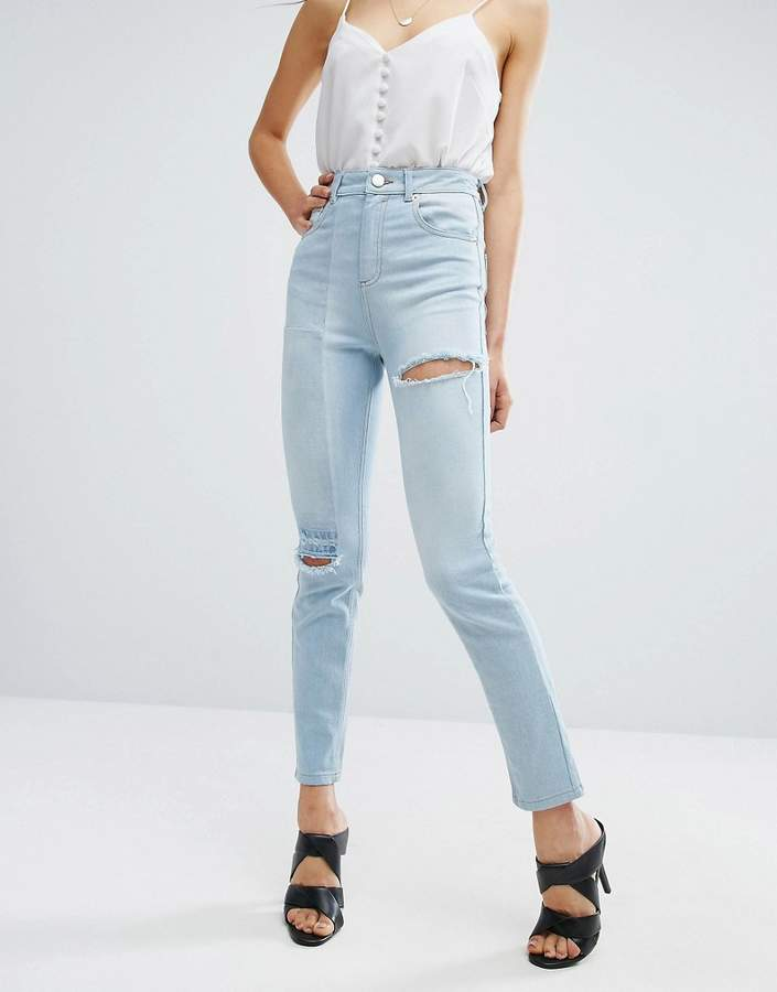 Asos ASOS Deconstructed Slim Mom Jeans