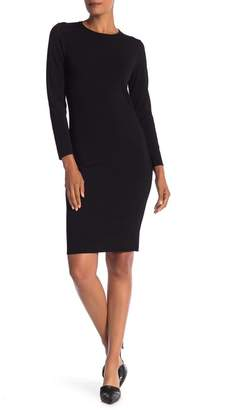 Vince Solid Fitted Dress