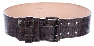 Givenchy Patent Wide Belt