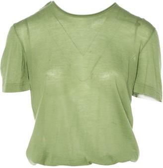 Louis Vuitton Green Wool Tops