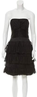 Antonio Berardi Lace-Tiered Mini Dress