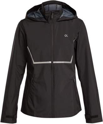 Calvin Klein Zip Through Hooded Wind Jacket - Womens - Black