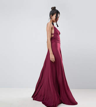 Asos Tall TALL Pleated Maxi Dress With Cowl Neck & Strappy Detail