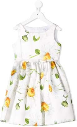MonnaLisa daisy print sleeveless dress