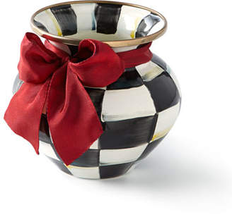 Mackenzie Childs MacKenzie-Childs COURTLY CHECK VASE WITH RED
