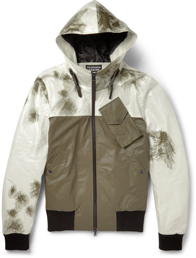 Christopher Raeburn Remade Quilted Panelled Bomber Jacket