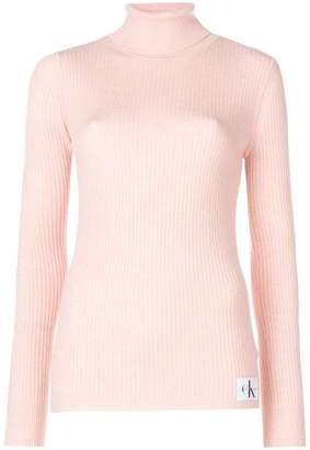 CK Calvin Klein turtle-neck fitted top