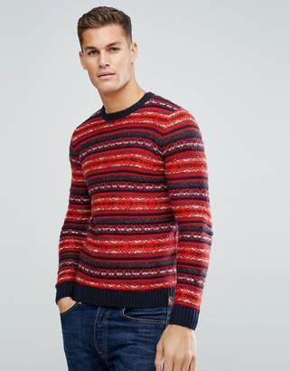 Tom Tailor Sweater With Red Fairisle