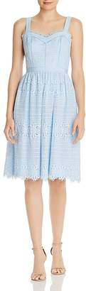 Aqua Fit-and-Flare Lace Midi Dress - 100% Exclusive
