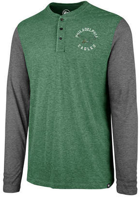 '47 Men's Philadelphia Eagles Retro Match Long Sleeve Henley T-Shirt