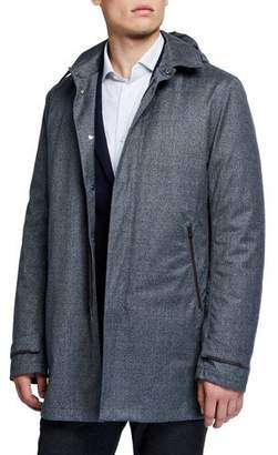 Herno Men's Wool Raincoat w/ Detachable Hood