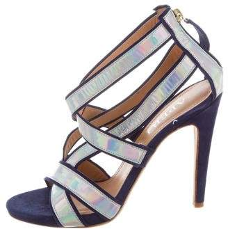 Aperlaï Iridescent Multistrap Sandals w/ Tags