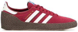 adidas red montreal suede leather sneakers