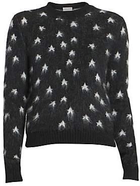 Saint Laurent Women's Star-Print Mohair-Blend Sweater