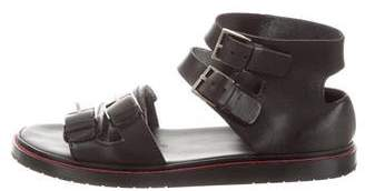 Christian Dior Multistrap Leather Sandals