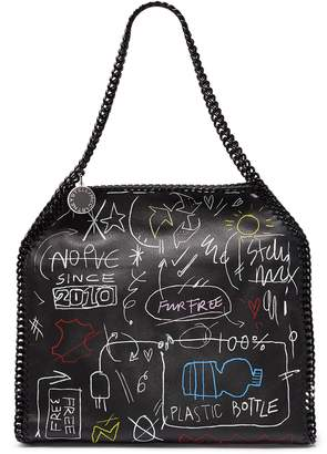 Stella McCartney 'Falabella' small graffiti print faux leather chain tote