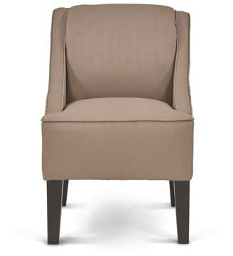 Mainstays Slight Arm Swoop Chair with Wood Legs, Dolphin