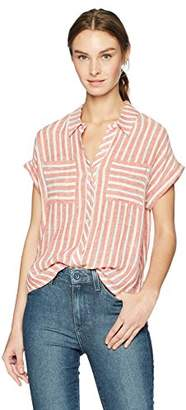 Lucky Brand Women's TIE Back Stripe Shirt