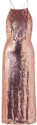 Jason Wu Collection - Open-back Sequined Georgette Midi Dress - Pink